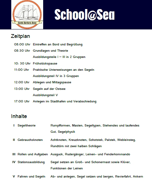 Programm School@Sea